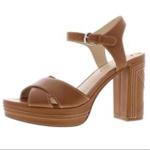 Via Spiga Brown Brianna Block Heels Sandals - 7.5M
